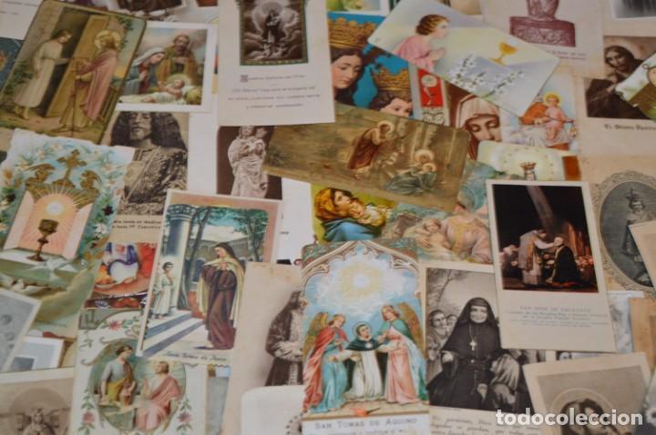 Postales: Lote 04 - Más de 100 Recordatorios y estampas religiosas variados, Principios 1900 a 1960 ¡Mira! - Foto 6 - 186138088