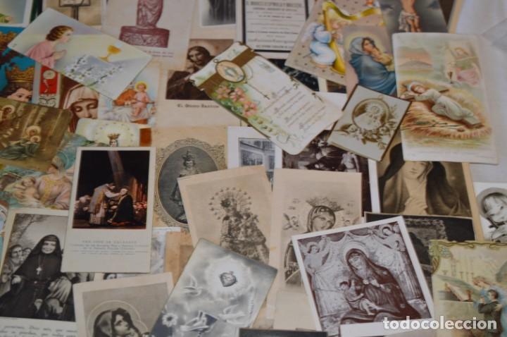 Postales: Lote 04 - Más de 100 Recordatorios y estampas religiosas variados, Principios 1900 a 1960 ¡Mira! - Foto 7 - 186138088