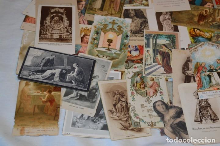 Postales: Lote 04 - Más de 100 Recordatorios y estampas religiosas variados, Principios 1900 a 1960 ¡Mira! - Foto 8 - 186138088