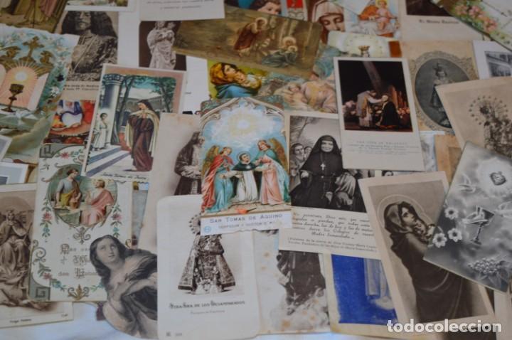 Postales: Lote 04 - Más de 100 Recordatorios y estampas religiosas variados, Principios 1900 a 1960 ¡Mira! - Foto 9 - 186138088