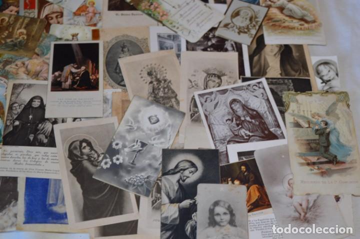 Postales: Lote 04 - Más de 100 Recordatorios y estampas religiosas variados, Principios 1900 a 1960 ¡Mira! - Foto 10 - 186138088