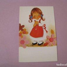 Cartes Postales: TARJETA PARA RECORDATORIO DE LA PRIMERA COMUNIÓN. EN BLANCO. IL. CRIS. MIREL. 12X7,5 CM.. Lote 187390871