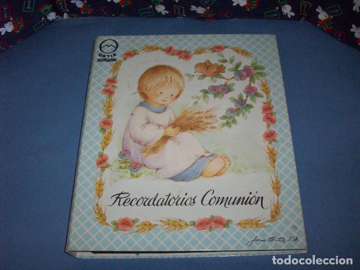 MUESTRARIO/CATALOGO DE RECORDATORIOS DE COMUNION JOSE ORTIZ S.A. 1998 (Postales - Postales Temáticas - Religiosas y Recordatorios)