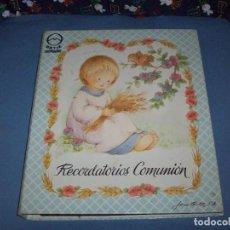 Postales: MUESTRARIO/CATALOGO DE RECORDATORIOS DE COMUNION JOSE ORTIZ S.A. 1998. Lote 187582113