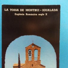 Postales: LA TOSSA DE MONTBUI- IGUALADA. VISTA DE LA IGLESIA DESDE EL CASTILLO. BONITA POSTAL. NUEVA. Lote 188463238