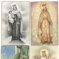 Postales: LOTE 4 POSTALES VIRGEN MARÍA MANUSCRITAS SIN CIRCULAR AÑOS 50. Lote 188588208