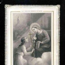 Postales: ESTAMPA RELIGIOSA DE PUNTILLA TROQUELADA CALADA: LAS QUE ELLA HA ESCOGIDO SON DE ORO. Lote 189147671
