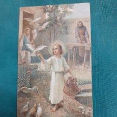 Postales: RECORDATORIO DE COMUNION DE 1922. Lote 189527853