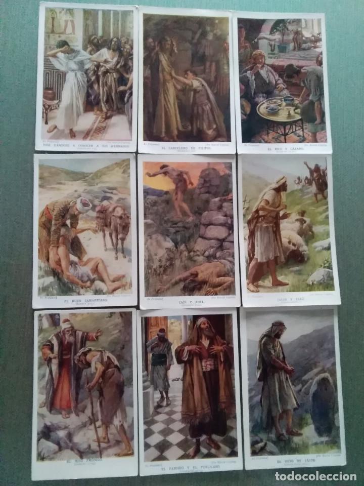 LOTE ANTIGUAS POSTALES BIBLICAS RELIGIOSAS (Postales - Postales Temáticas - Religiosas y Recordatorios)