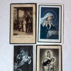 Postales: LOTE DE 4 RECORDATORIOS FUNERARIOS. D. CARLOS FRIGOLA ( BARÓN DEL CASTILLO DE CHIREL) .VALENCIA. Lote 191398496