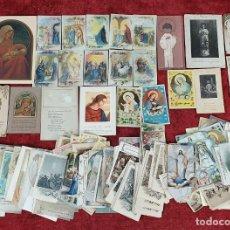Postales: LOTE DE CIENTOS DE ESTAMPAS RELIGIOSAS. PAPEL IMPRESO. ESPAÑA. SIGLO XX. . Lote 191760677