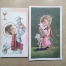 Postales: LOTE DE 2 RECORDATORIOS COMUNION, CONSTANZA. Lote 191796770