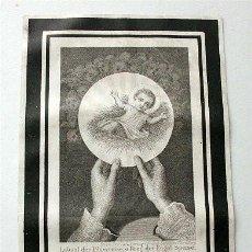 Postales: ANTIGUA ESTAMPA RELIGIOSA ALEMANA. GRABADA POR FRANZ SCHEMM. NÚREMBERG (SIGLO XIX). Lote 191821683