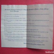 Postales: SAGRADO CORAZON DE JESUS.-SANTA MARGARITA DE ALACOQUE.-VILLANUEVA DE CASTELLON.-AÑO 1949.. Lote 192010747