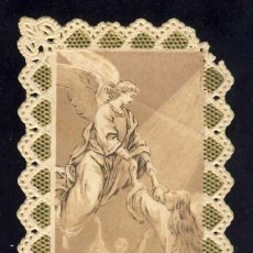 Postales: ESTAMPA RELIGIOSA DE PUNTILLA TROQUEKLADA CALADA: SEÑOR, SEÑOR, ESCUCHAD MI VOZ. Lote 192093171