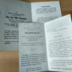 Postales: DOS RECORDATORIOS VILLANUEVA DE MENA 1977 Y 1966 BURGOS VILLASANA. Lote 192214236