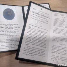 Postales: LOTE DOS RECORDATORIOS VALMASEDA BALMASEDA VIZCAYA IRAOLA SUMAY 1904 Y 1915. Lote 192949392