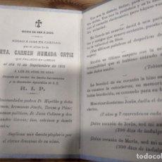 Postales: RECORDATORIO SEÑORITA HUMADA ORTIZ LAREDO 1915 CANTABRIA. Lote 192949572