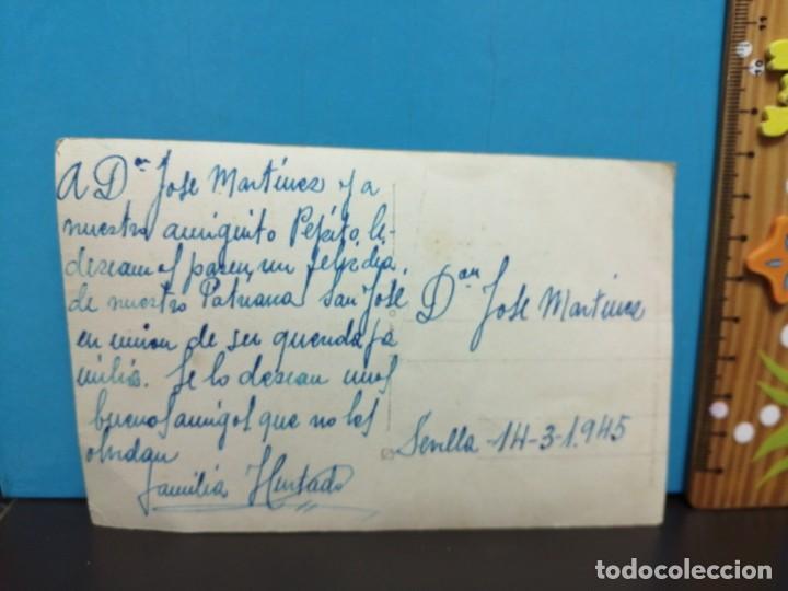 Postales: POSTAL MUESTRA, SEÑORA DE LA, ESPERANZA ESCRITA 1945 - Foto 3 - 193869853