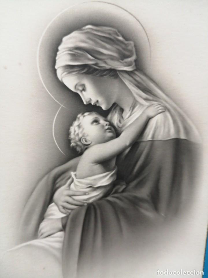 POSTAL VIRGEN MARIA Y NIÑO JESÚS EDICIONES ANCLA (Postales - Postales Temáticas - Religiosas y Recordatorios)