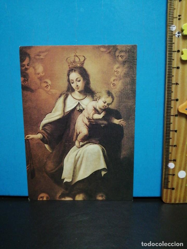 Postales: ESTAMPA RELIGIOSA MARE DE DEU DEL CARMEN PEDRALBES - Foto 2 - 193869990