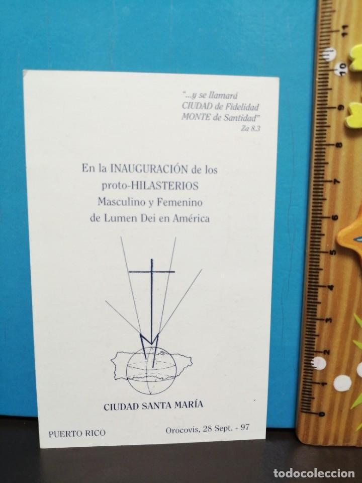 Postales: ESTAMPA RELIGIOSA NUESTRA SEÑORA DE ENCUENTRO - Foto 3 - 193870001