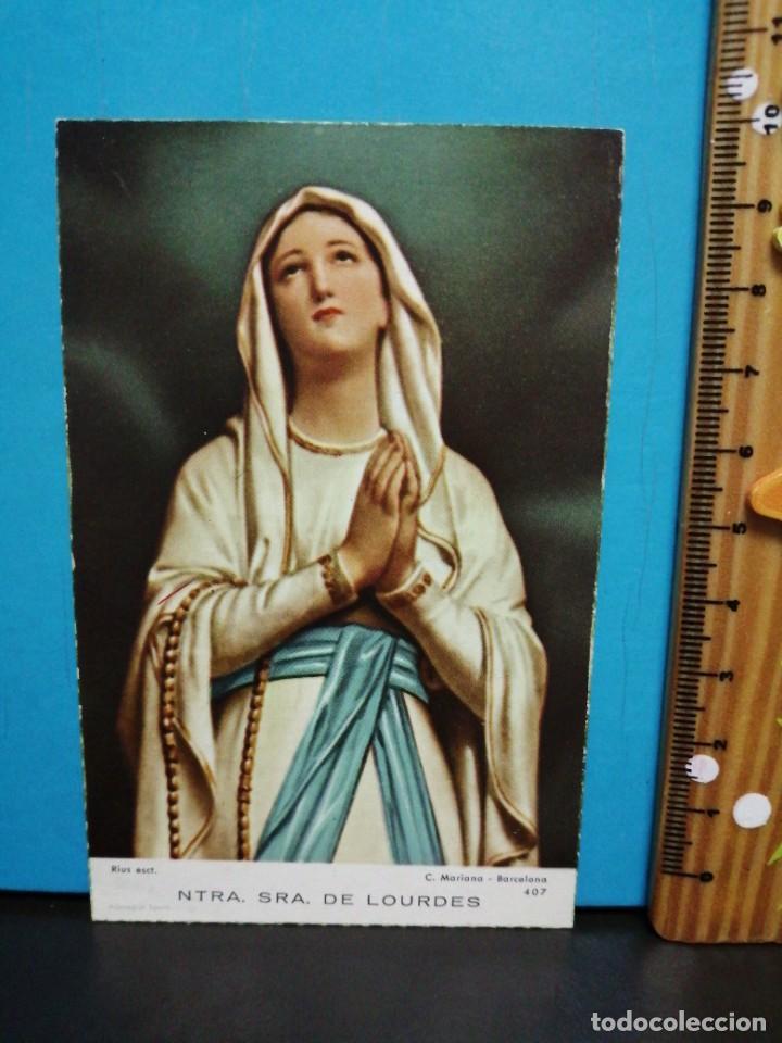 Postales: ESTAMPA RELIGIOSA NUESTRA SEÑORA DE LOURDES - Foto 2 - 193870010
