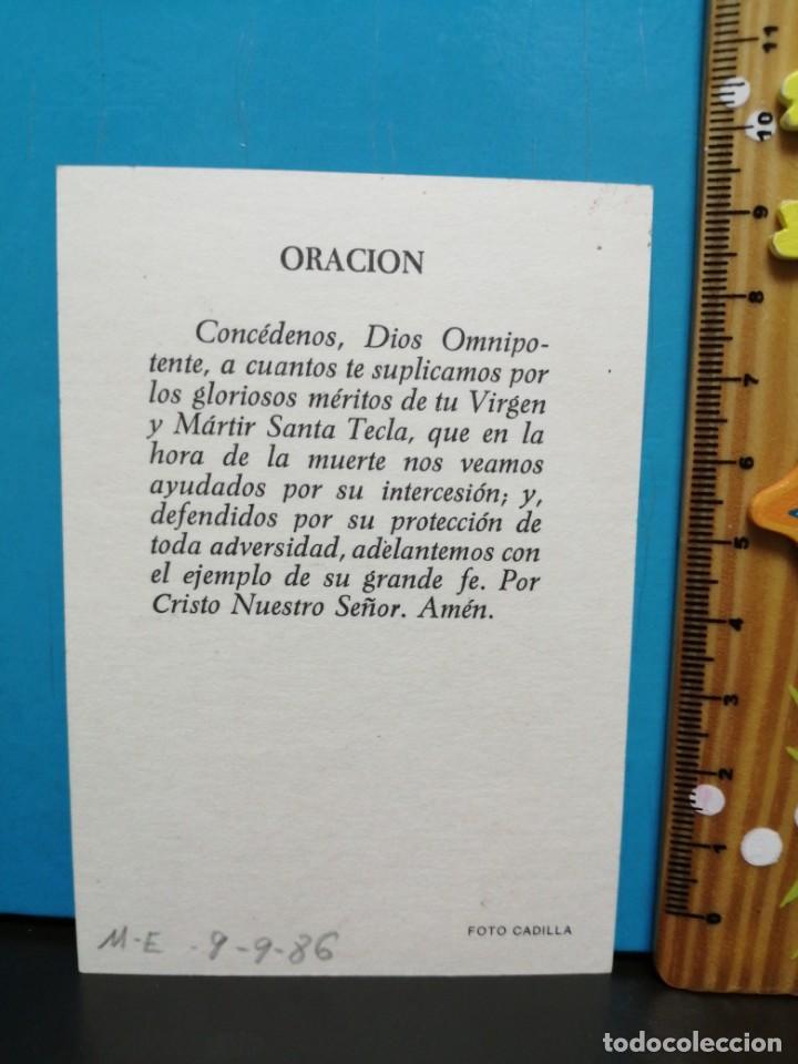 Postales: ESTAMPA RELIGIOSA VIRGEN SANTA TECLA - Foto 3 - 193870017