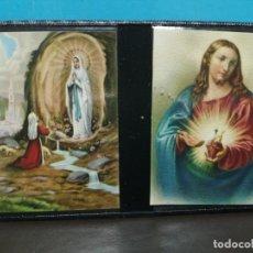 Postales: ESTAMPA RELIGIOSA VIRGEN DE LOURDES CON ARCHIVADOR . Lote 193870035