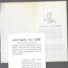 Postales: RECORDATORIO COMUNIÓN Y DEFUNCIÓN DE LA MISMA PERSONA- CASSÀ DE LA SELVA 1963/1973. Lote 194222707
