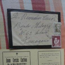 Postales: RECUERDO FUNERAL.D.JOAN CERCOS CORTINA.ARTESA DE SEGRE.LERIDA 1950. Lote 194225321