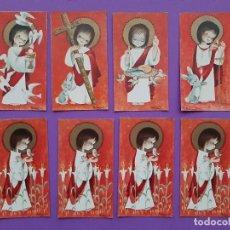 Postales: LOTE 8 ESTAMPAS BORDE DORADO CON TEXTO FIRMA FERRANDIZ 1962. Lote 194229452