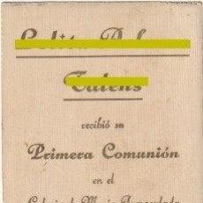 Postales: ESTAMPA PRIMERA COMUNION COLEGIO M. INMACULADA CARCAGENTE VALENCIA 1932 -R-8. Lote 194236440