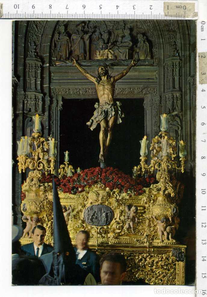 TARJETA POSTAL SIN CIRCULAR ,CRISTO DE LA EXPIRACION. SEMANA SANTA DE SEVILLA. GARCIA GARRABELLA (Postales - Postales Temáticas - Religiosas y Recordatorios)
