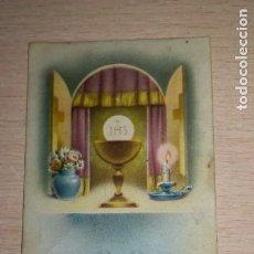 Postales: RECORDATORIO RELIGIOSO, FUENTES DE LEON, BADAJOZ, AÑO 1965. Lote 194259470