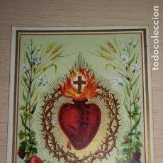 Postales: RECORDATORIO RELIGIOSO CORAZON DE JESUS. Lote 194259912