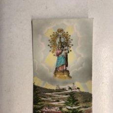 Postales: CULLERA. ESTAMPA FOTOGRAFÍCA COLOREADA. SANTUARIO DE NTRA SRA DE LA ENCARNACION (DEL CASTILLO). Lote 194307073