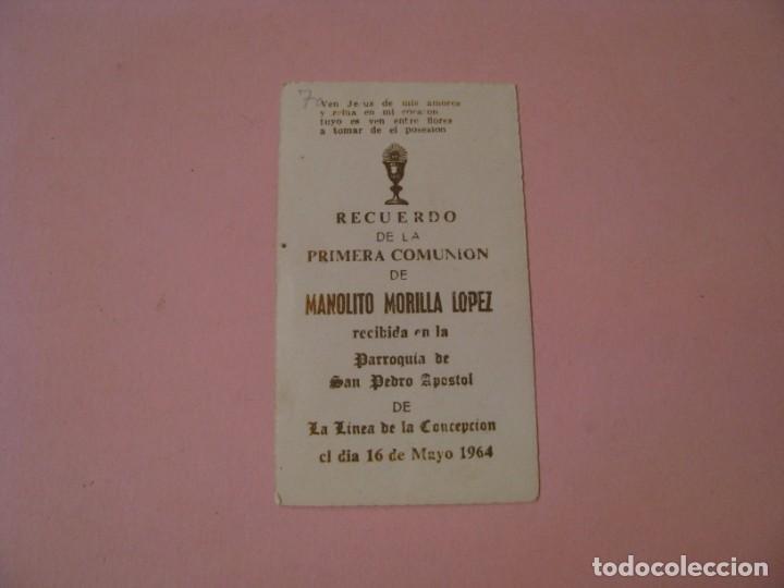 Postales: RECORDATORIO DE LA PRIMERA COMUNIÓN. ED. SU. LA LINEA. 1964. - Foto 2 - 194347522