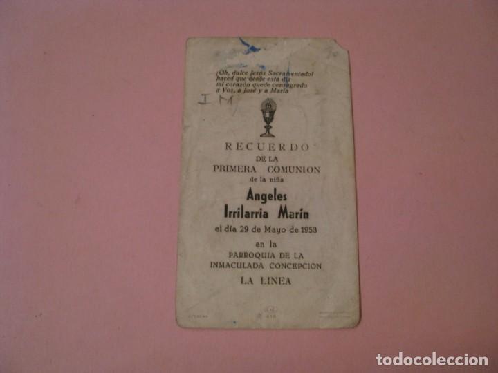 Postales: RECORDATORIO DE LA PRIMERA COMUNIÓN. ED. C. Y Z. LA LINEA. 1958. - Foto 2 - 194347863