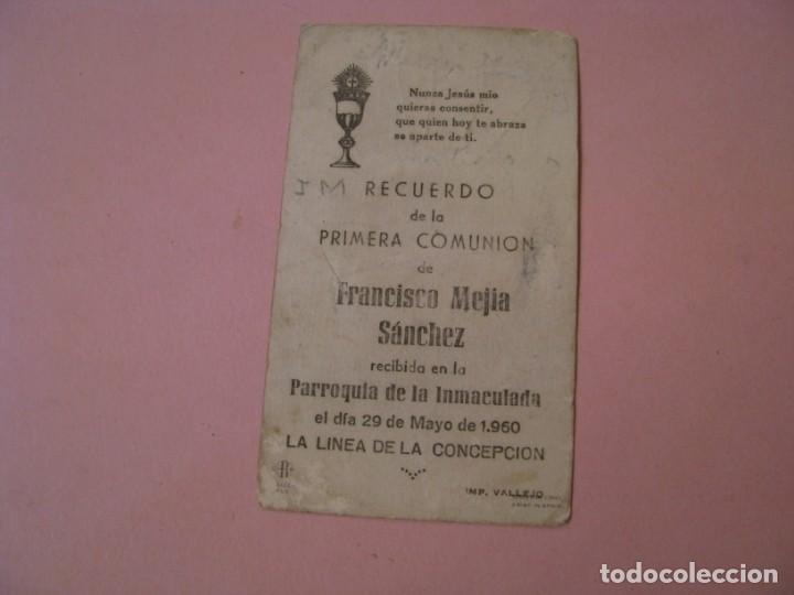 Postales: RECORDATORIO DE LA PRIMERA COMUNIÓN. LA LINEA. 1960. - Foto 2 - 194348113