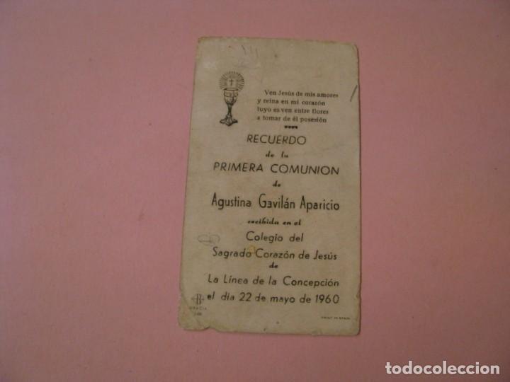 Postales: RECORDATORIO DE LA PRIMERA COMUNIÓN. LA LINEA. 1960. - Foto 2 - 194348531