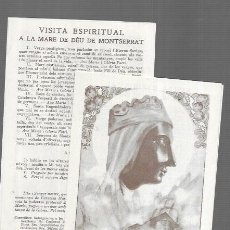 Postales: ESTAMPA LOLA ANGLADA * NTRA. SRA. DE MONTSERRAT *. Lote 194402560