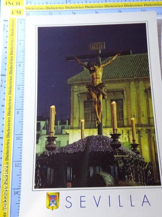 POSTAL RELIGIOSA SEMANA SANTA. SEVILLA AÑO 1994. CRISTO DE LA BUENA MUERTE. 17 ESCUDO ORO. 2778 (Postales - Postales Temáticas - Religiosas y Recordatorios)