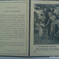 Postales: RECORDATORIO DE NIÑA FALLECIDA EN SEVILLA EN 1950 A LOS 16 AÑOS. Lote 194580428
