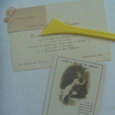 Postales: LOTE DE UN NIÑO: TARJETA NACIMIENTO Y RECORDATORIO DE SU MUERTE 12 MESES DESPUES. SEVILLA 1921 - 22. Lote 194596051