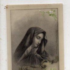 Postales: RECORDATORIO RELIGIOSO ANTIGUO. DECORADO A MANO.. Lote 194613846