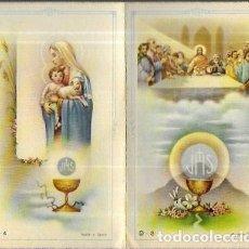 Postales: RECORDATORIO COMUNIÓN -1960 ( CALELLA .- BARCELONA). Lote 194647557