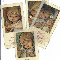 Postales: 4 RECORDATORIOS COMUNIÓN MCN -1969 -FIGUERES. Lote 194647577