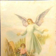 Postales: NIÑO Y ÁNGEL DE LA GUARDA. NUEVA. COLOR. Lote 194663276