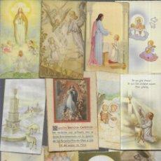 Postales: 75 RECORDATORIOS COMUNION AÑOS 40 ( LOTE 09 ). Lote 194664985